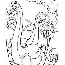 diplodocus tree coloring pages hellokids