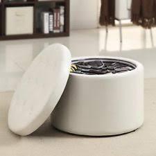 round storage ottoman ebay