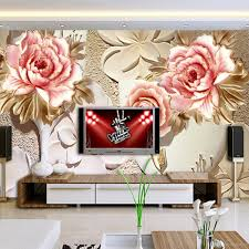3d Wallpaper For Bedroom by Custom 3d Mural Wallpaper Red Roses Bloom And White Leaves