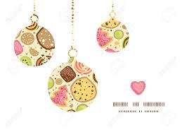 vector colorful cookies christmas ornaments silhouettes pattern