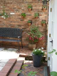 metal wall planter patio traditional with small garden secret