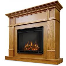 real flame camden 45 inch electric fireplace light oak gas log