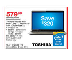 black friday i7 laptop toshiba laptop w intel core i7 12gb ram 1tb hdd turbo boost