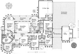 4 bedroom single story house plans house plans with rear entry garage