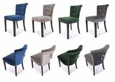 Green Velvet Dining Chairs Velvet Dining Chairs Ebay