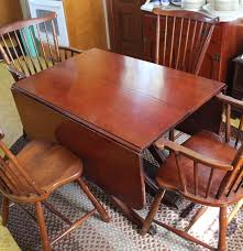 antique duncan phyfe style mahogany dining table and four early