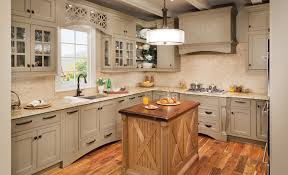 l shaped beige polished wooden cabinet in small kitchen combined cream unfinished