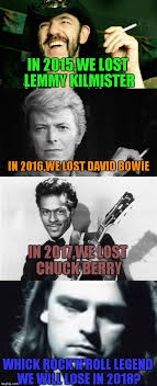 Lemmy Meme - in 2015 we lost lemmy kilmister in 2016 we lost david bowie in