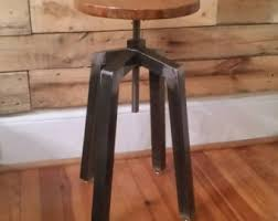 wooden bar stool etsy