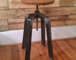 wooden bar stool etsy