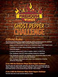 Challenge Directions Firehouse Wings Ghost Pepper Challenge Foodchallenges