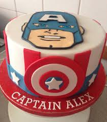 captain america cake birthday cake fondant superhero cakes