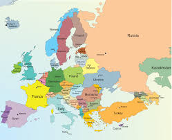 Blank Political Map by Europe Map With Cities Blank Outline Map Of Europe