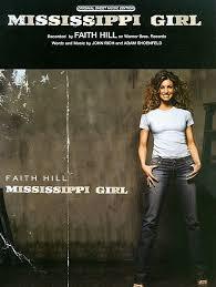 Faith Hill Meme - mississippi girl sheet music by faith hill sheet music plus