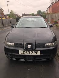 seat leon cupra 2004 in black 180hp 6 speed manual in