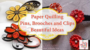 paper quilling pins brooches and clips decorate pins with