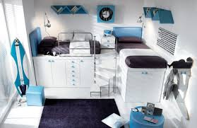 cool loft bed for teenage boys room idea teenage bedroom design