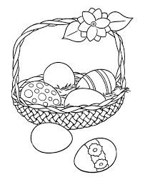 free printable easter egg coloring pages easter egg coloring pages big easter basket with eggs holiday