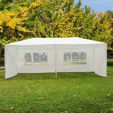 patio gazebo canopy outsunny 6x3 m gazebo canopy white aosom co uk