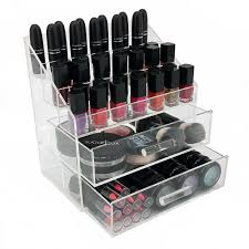 ondisplay acrylic cosmetic makeup nail polish rack organizer