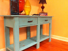 Free Simple End Table Plans by Ana White Benchwright Console Table Diy Projects