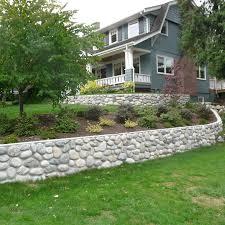 Rock Garden Wall River Rock Garden Wall And Photos Madlonsbigbear