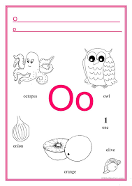letter o worksheets for kindergarten u0026 kids under 7 letter o
