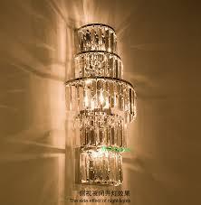 Long Wall Sconce Lighting Aliexpress Com Buy Indoor Lighting Crystal Wall Lamps Long
