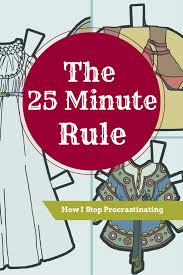 the 25 best art projects the 25 minute rule how i stop procrastinating u2022 paper thin personas