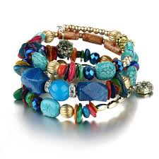 crystal charm bracelet beads images Bohemian beads crystal and natural stone bracelets muriell 39 s closet jpg