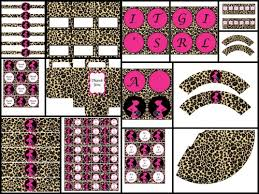 Cheetah Party Decorations Printable Party Decorations Baby Shower Pink Leopard