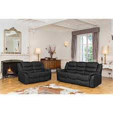 Recliner Sofa Suite Lincoln Bonded Leather Two Plus Three Seater Manual Recliner Sofa