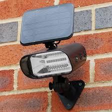 solar spot lights outdoor wall mount thea solar garden spotlight lyco