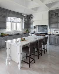 Dark Gray Kitchen Cabinets Gray Wash Kitchen Cabinets With Dark Gray Veined Marble