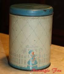 metal kitchen canisters antique flapper tin box vintage deco black 1920 s painted box