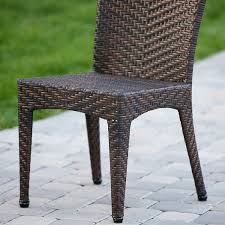 amazon com solana outdoor brown wicker chairs set of 2 kitchen