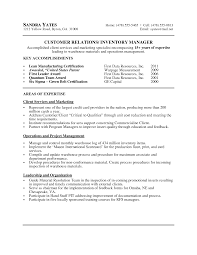 related free resume examples inventory manager cover letter