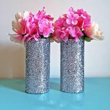 3 vases centerpieces 3 silver glitter glass cylinder vases wedding centerpieces