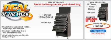 Roller Tool Cabinet Is Harbor Freight U0027s U0027deal Of The Week U0027 Daily