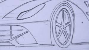 ferrari enzo sketch drawn ferrari point perspective pencil and in color drawn