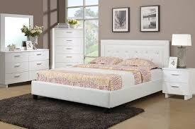poundex f9247 white platform queen bedroom set