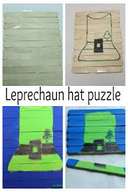 popsicle sticks puzzle leprechaun u0027s hat sparklingbuds