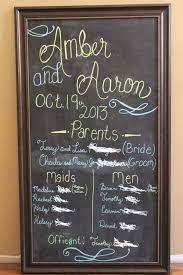 Chalkboard Wedding Program Wedding Program On Chalkboard Tbrb Info