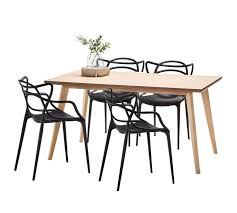 wyatt dining table set with 4 phillipe starck master replica