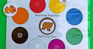 brown bear color matching printable toddlers totschooling
