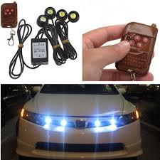 led strobe light kit carprie super drop ship car styling 4in1 12v hawkeye led car