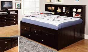 discovery world furniture espresso full size bookcase day bed
