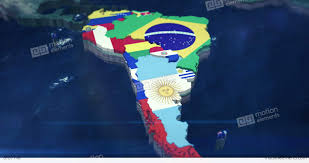 america map zoom 4k zoom of south america with country flags stock animation 8787148