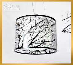black and white pendant lights modern stylish white black tree drum stick light pendant l