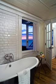 Unfinished Beadboard - bevelled edge siding ideas bathroom beach style with wood side